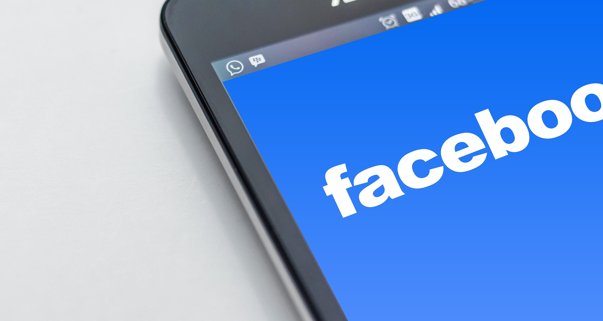 Facebook sign in page