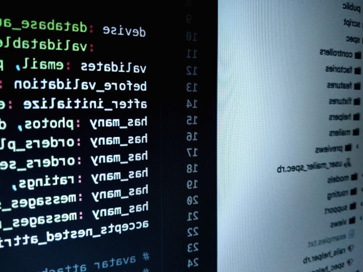 Photo showing a code running on a computer screen