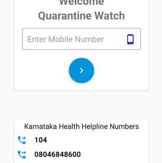 Quarantine Watch Karnataka Government