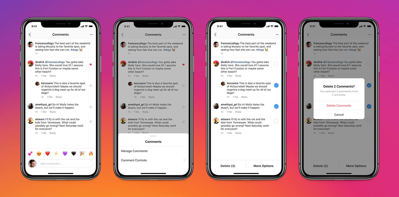 Instagram allows deleting comments in bulk, managing mentions and tags |  MediaNama