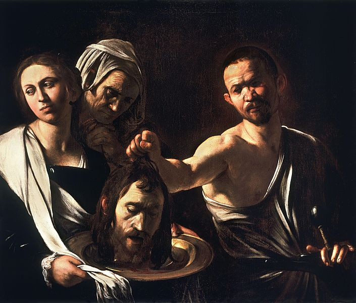 Beheading of St John the Baptiste, painting, Caravaggio