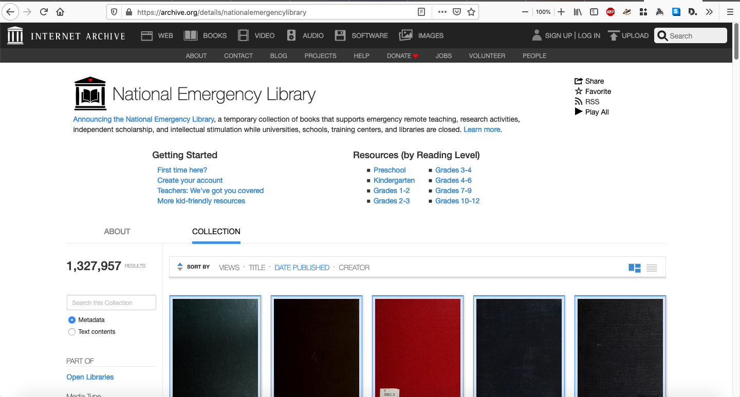 Internet Archive, National Emergency Library