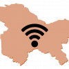 wifi symbol overlaid on map of Kashmir