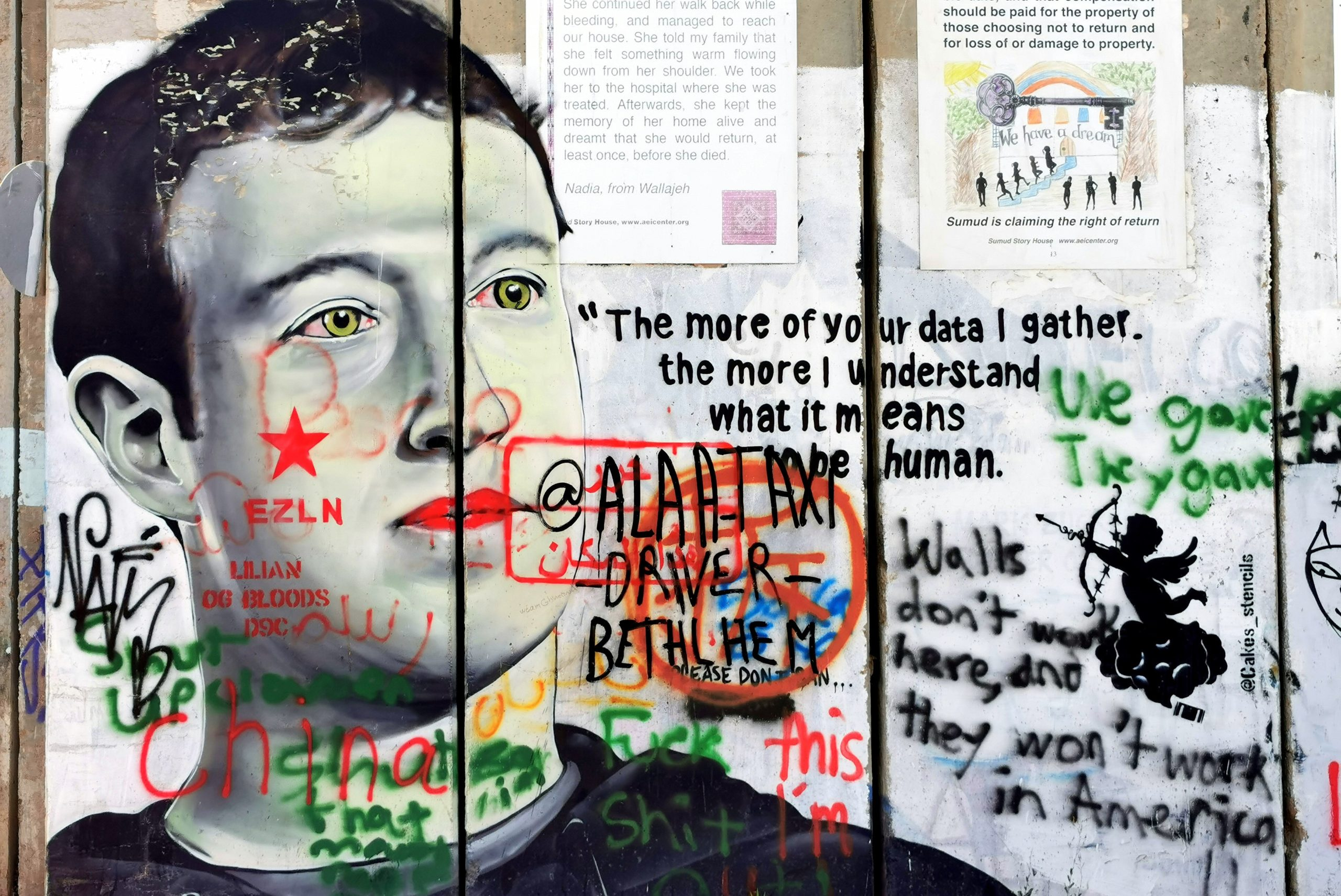 Mark Zuckerberg graffiti