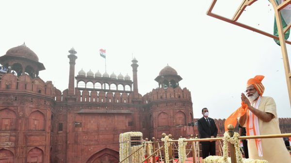 Modi at red fort