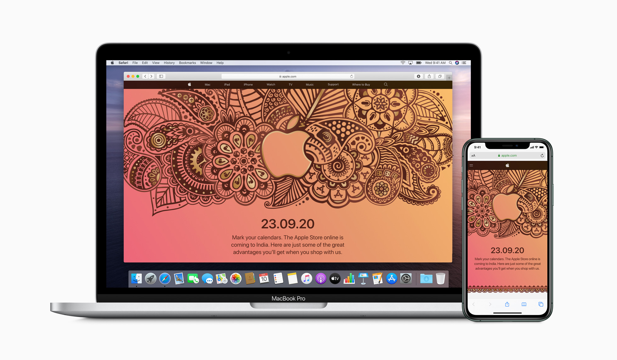 Representational picture of Apple's online store in India