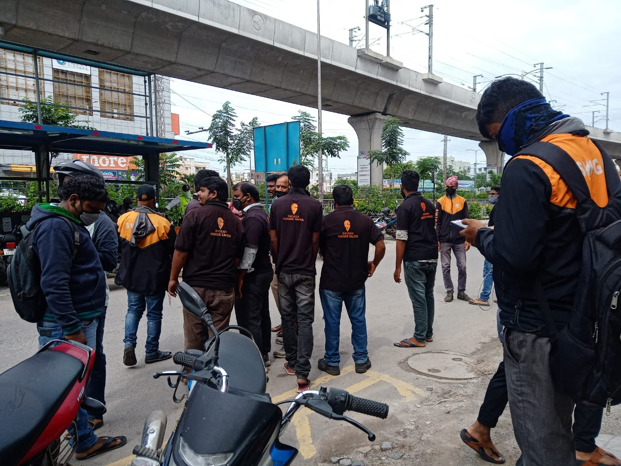 Swiggy delivery executive strike in Hyderabad