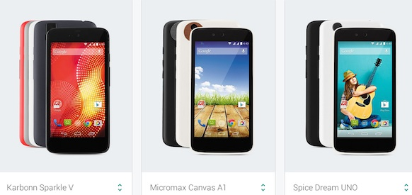Android One handsets