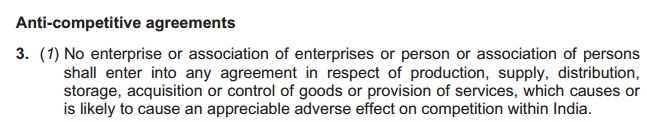 Competition Act 2002 Section 3