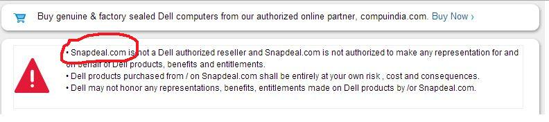 Dell Snapdeal