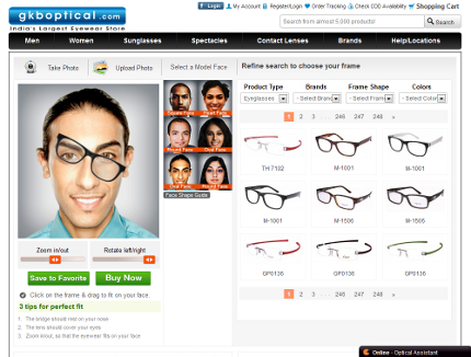 GKB Virtual Try On for Eyewear