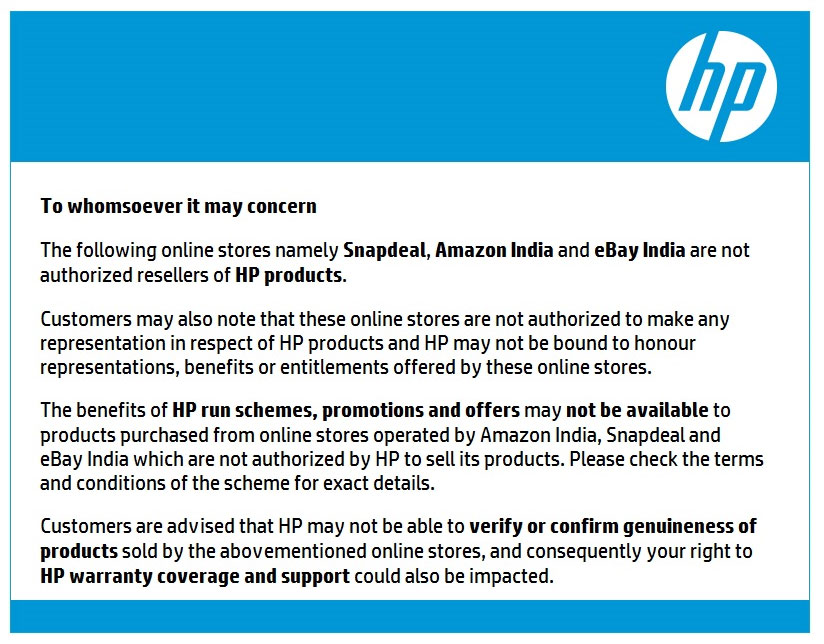 HP India Online Advisory