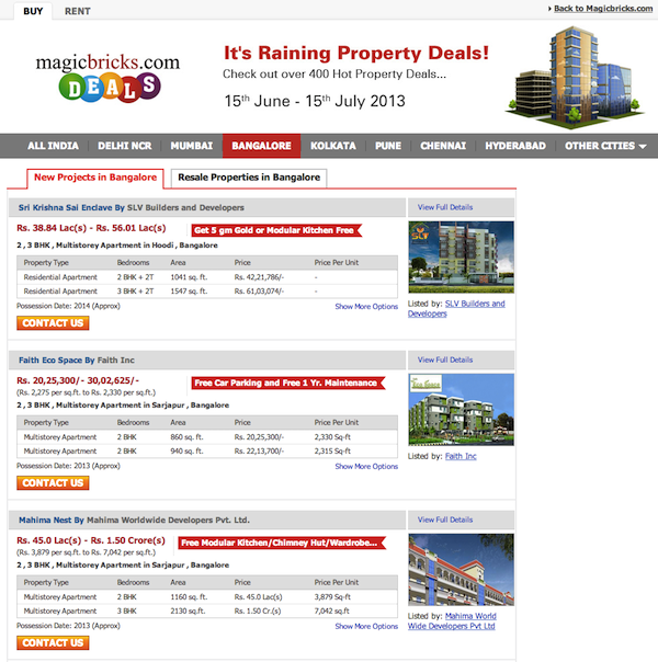 Magicbricks Deals