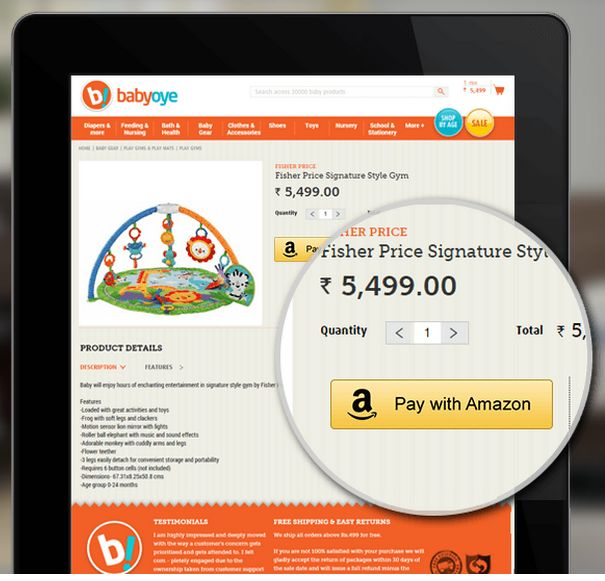 Pay with Amazon Baby Oye