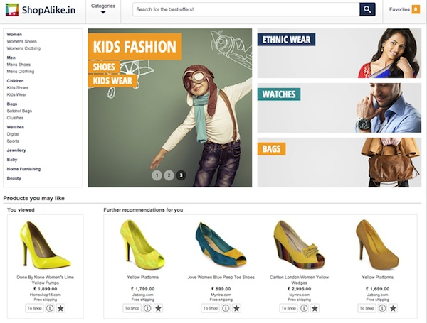 ShopAlike Homepage
