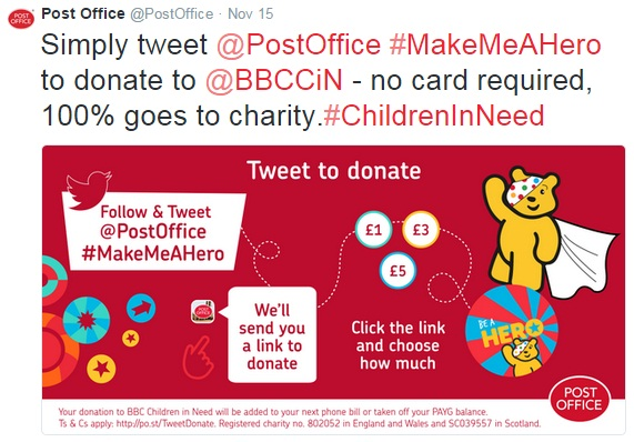 Tweet to Donate-Post Office