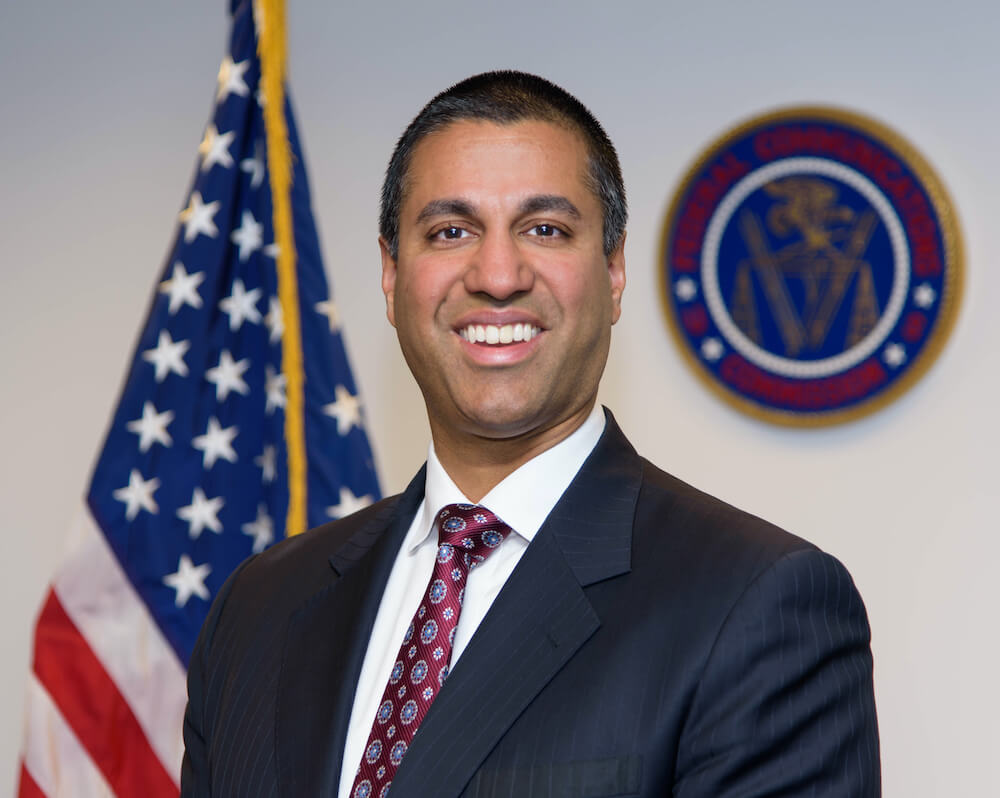 Photo of Ajit Pai, chair of US Federal Communications Commission (FCC)