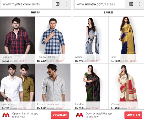 myntra-mobile-site
