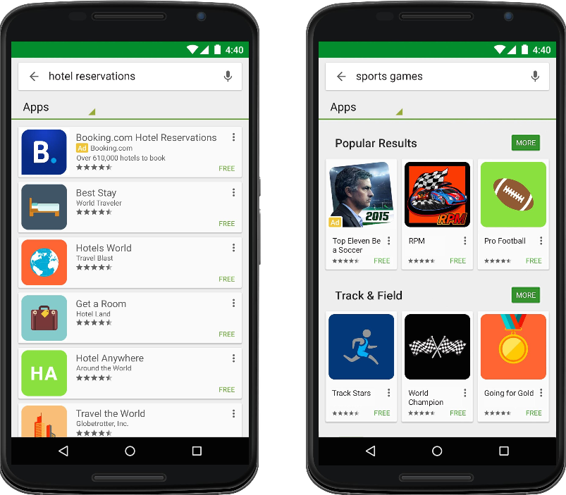 search ads play store