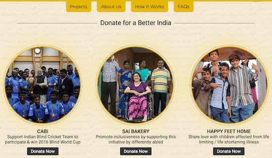 snapdeal donations