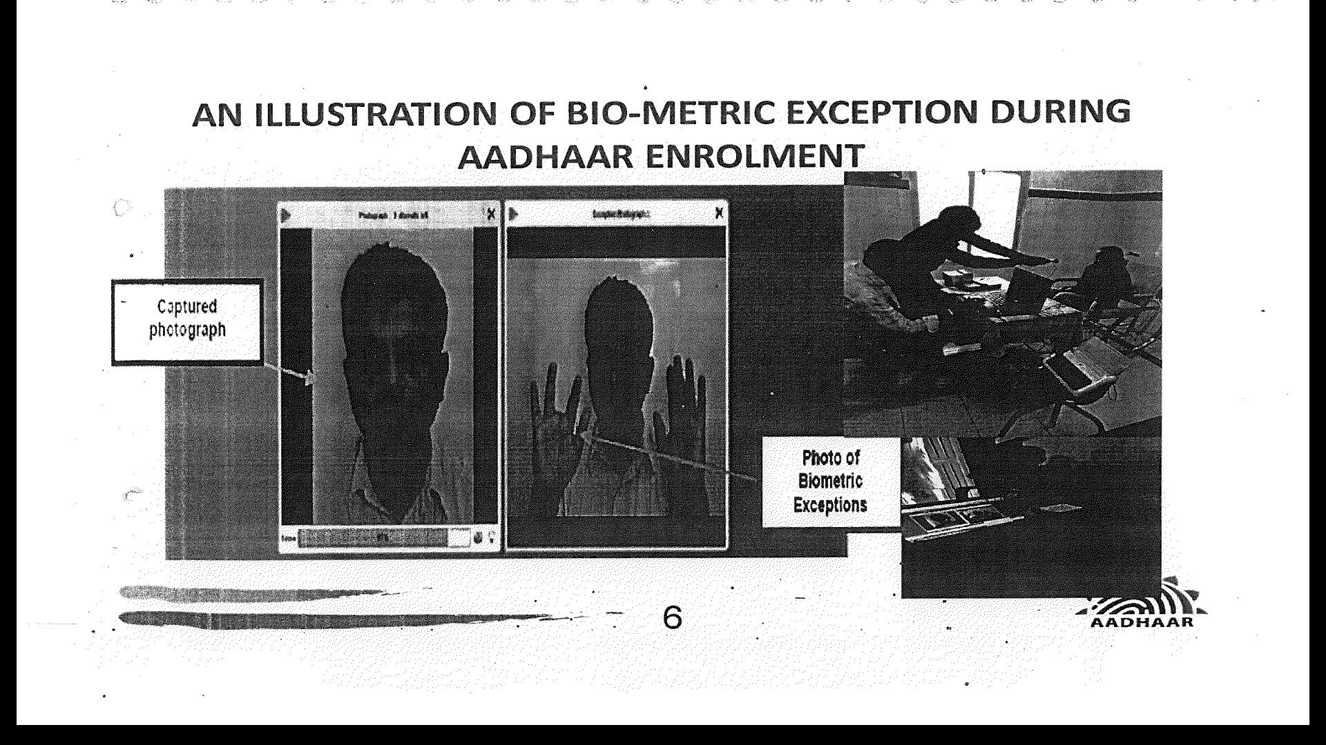 biometric exemption slide