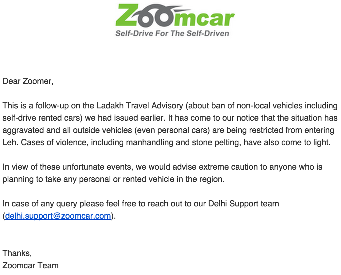 zoomcar 28 july