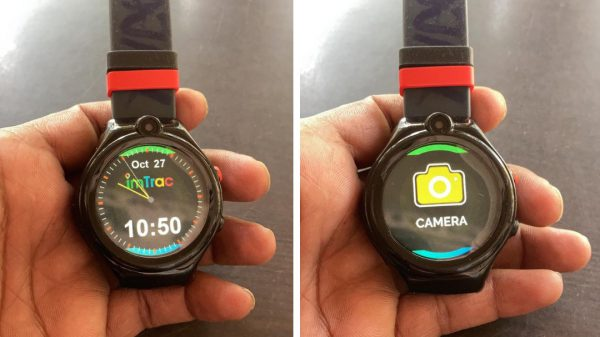 Pictures of the GPS-enabled smartwatches used by sanitation workers in Chandigarh
